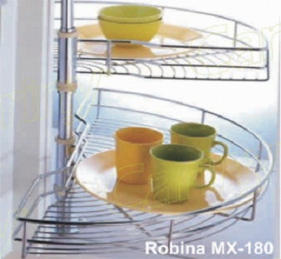 Mâm xoay góc 1/2 inox Cariny MX-180/800