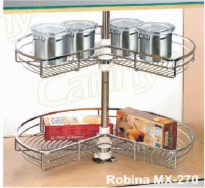 Mâm xoay inox mở 3/4 Cariny MX-27/800