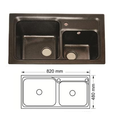 Chậu Rửa Bát Hàn Quốc Topy TP - HP8248Đ
