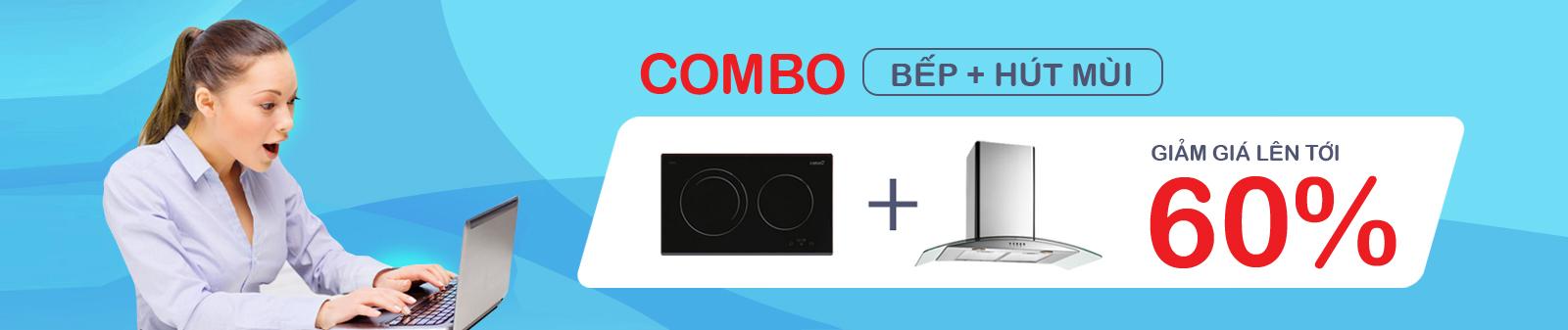 Banner slide khuyến mại combox bếp + hút