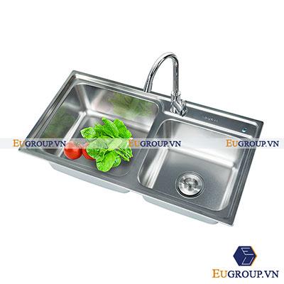 Chậu rửa bát EU-8245L (Inox xước 304)