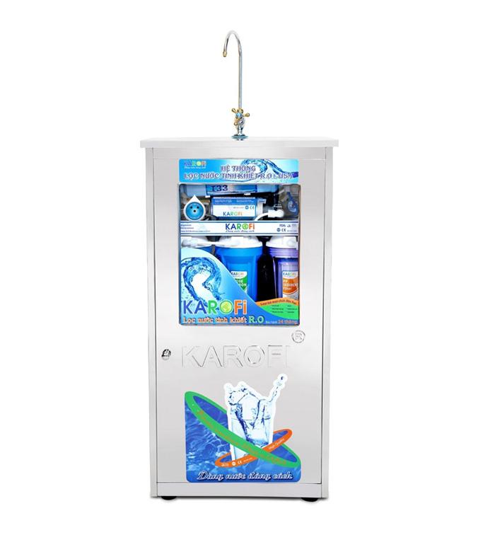 Máy lọc nước karofi thông minh SRO 9 cấp KS90 kèm tủ