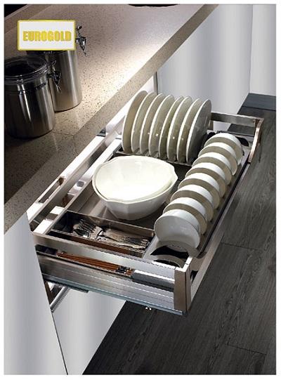 Kệ úp bát đĩa tủ dưới Inox hộp Eurogold EU