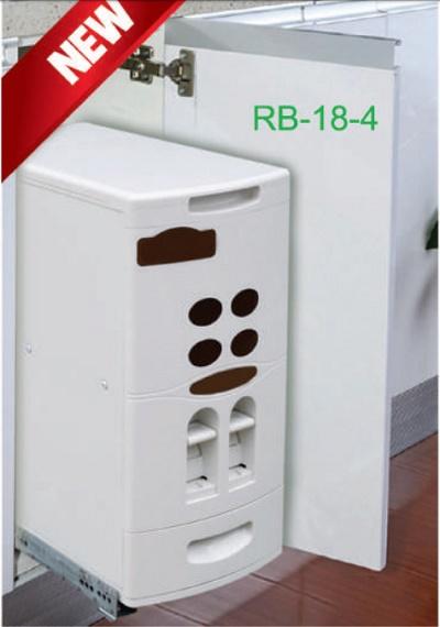 Thùng Gạo Âm Tủ Grob RB-18-4