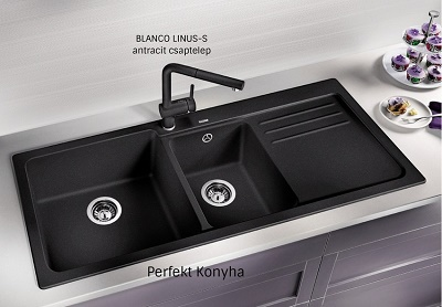 Chậu Rửa Bát Blanco Naya 8S Anthracite